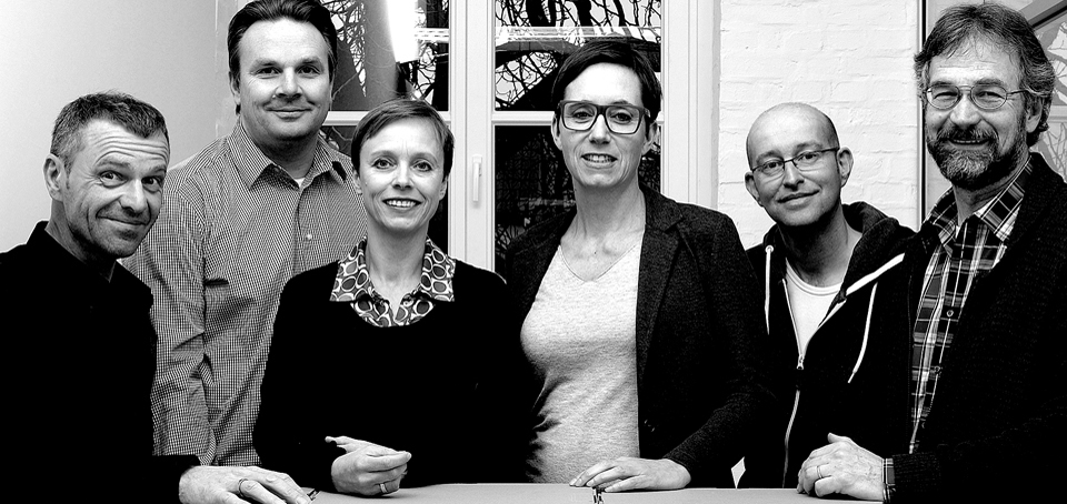 Von links: Christian Ring, Andreas Wessels, Kerstin Schröder, Karen Ludewig, Bernd Bexte, Michael Mertins (Foto: Martin Larius)